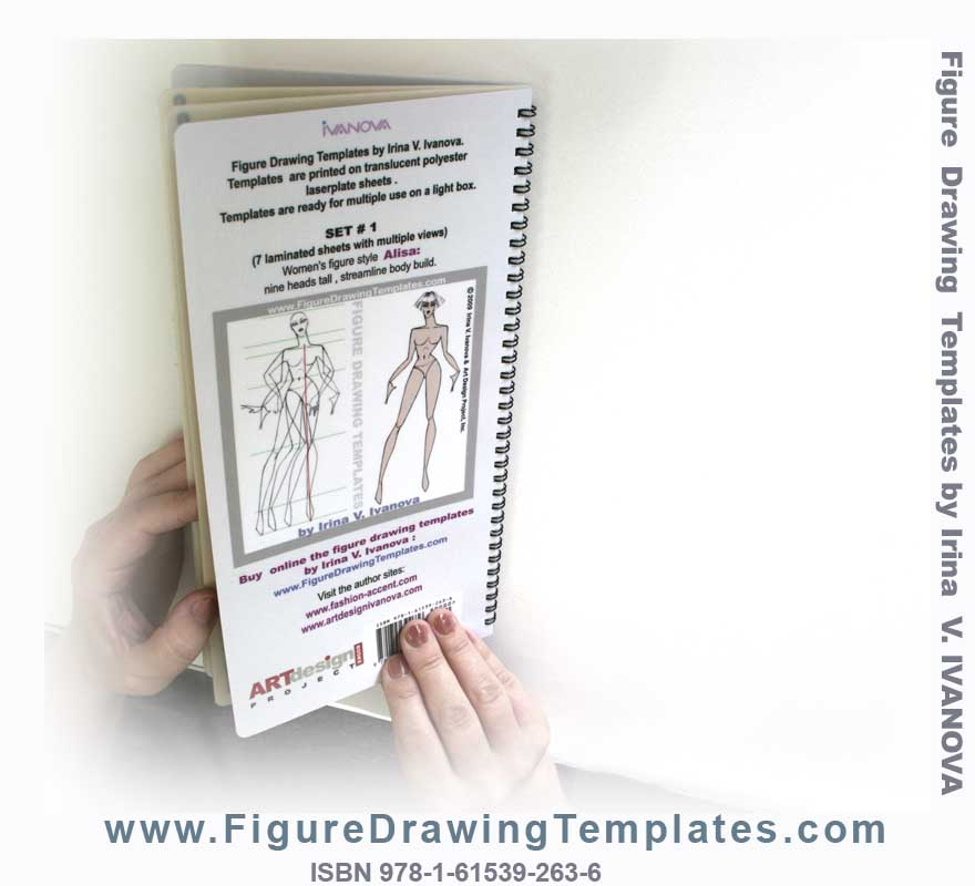 Back Cover Of The Figure Drawing Template Book
