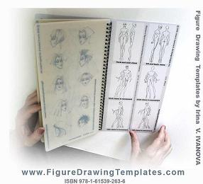 All six figure drawing templates conveniently assembled on single page for easy reference