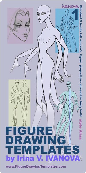 The Figure Drawing Templates by Irina V. Ivanova . Set 1 . Cover