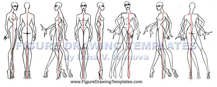 Template based Figure Drawing techniques by Irina V. Ivanova.. Body views , static and movement