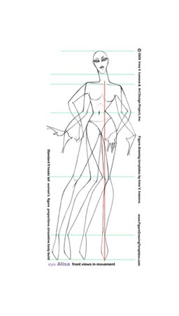 Drawing Templates | How To Draw Woman S Figure With Figured Drawing Templates