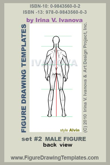 This Male Figure Drawing Template Designed For Body In Back View Static Position