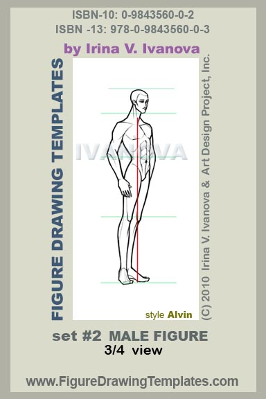 This Male Figure Drawing Template Designed For Body In 3 4 Three